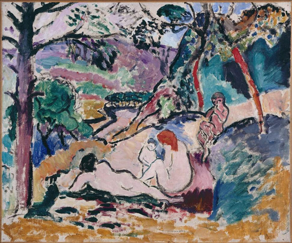 A 1906 pastoral scene by Matisse stolen from the Modern Art Museum in Paris on May 20, 2010.