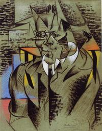 Felix Del Marle, Study for a portrait of Jean Dupré 1913, Charcoal and pastel on paper, 62 x 48 cm, from David Levy.