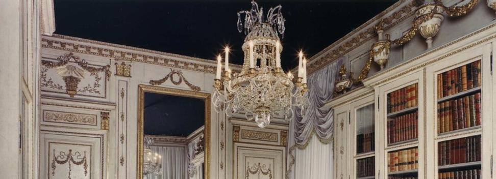 Carlton Hobbs, LLC, will exhibit at Masterpiece London this extraordinary French 18th century parcel gilt and white painted Library from the Hotel Gaulin, Dijon, attributed to the celebrated ornemaniste, Jerome Marlet (1713-1810), which belonged to J.P Morgan, Jr., one of the most important collectors of the twentieth century.
