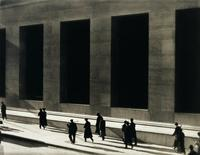 Paul Strand 1890-1976, Wall Street, New York, (1915, printed 1976-77).  Platinum palladium print, Sheet: 11 × 13 7/8in.  (27.9 × 35.2cm) Image: 10 1/8 × 12 11/16in.  (25.7 × 32.2cm).  Whitney Museum of American Art, New York; Gift of Michael E.  Hoffman in honor of Sondra Gilman 91.102.2.  Photograph by Sheldan C.  Collins