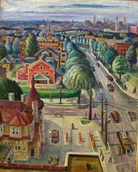 View From My Studio, Kansas City, 1933