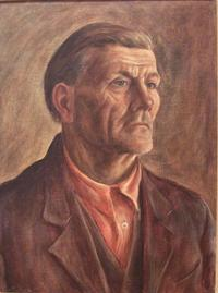 Portrait of Man in Orange Shirt, 1940