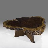 George Nakashima coffee table, Sold for $87,500