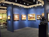 View of our expansive booth and display at the recent L.A.  Art Show