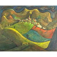 Lot 110, Angel Botello, Untitled, sold for $46,875