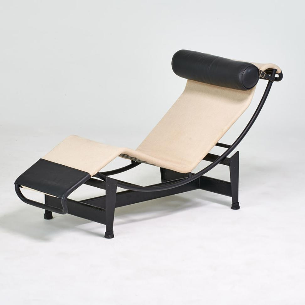 "Lot 1110: Le Corbusier/Cassina, ""LC4"" adjustable chaise lounge, $700-900"