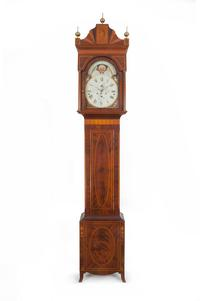 Six-tune Musical Tall Case Clock made by Daniel Rose in Reading, Pennsylvania, ca.  1810–1815
