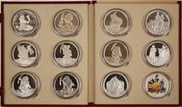 Complete set of eleven five-ounce 999 silver medallions marking the 50th anniversary of the release of Walt Disney's Snow White and the Seven Dwarfs, from 1987 (est.  $1,700-$3,000).