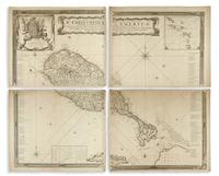 Samuel Baker, A New & Exact Map of the Island of St.  Christopher in America, London, 1753.  Estimate $20,000 to $30,000.