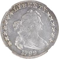 Lot 1295 - U.S.  1799 Draped Bust $1 Coin - NGC MS62 - $30,000 - 50,000