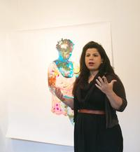 Firelei Báez at Headlands Center for the Arts.  Photograph by Andria Lo; courtesy Headlands Center for the Arts.