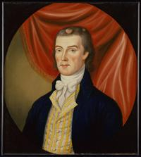 Portrait of Amos Morrow Attributed to Charles Peale Polk (1767-1822) Jefferson County, Virginia (now West Virginia), ca.  1800 Oil on canvas Gift of M.  Knoedler and Company, Inc., 1957.100.11