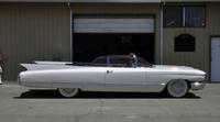 A White 1960 Cadillac Convertible series 62
