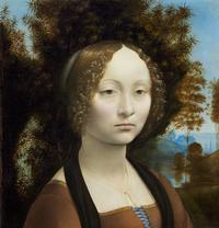 Leonardo da Vinci, Ginevra de' Benci [obverse], c.  1474/1478, National Gallery of Art, Washington, Ailsa Mellon Bruce Fund