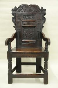 English Great Chair, oak, c.  1625.