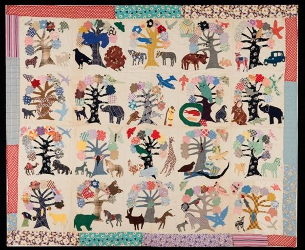 Appliquéd Quilt Top Maker unknown Baltimore, 1936 Cottons, rayons Museum Purchase, 2015.609.8