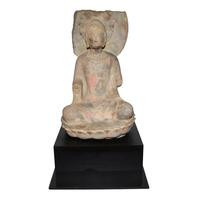 Northern Qi stone figure of Sakyamuni Buddha.  Lot 211,.  Gianguan Auctions, June 9, 2018.