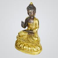 Buddha Amitabha, bronze, with four character Xuande mark.  Lot 228.  Gianguan Auctions, June 9, 2018.