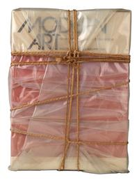 Lot 248: Christo, Wrapped Book Modern Art, the book Modern Art by Sam Hunter and John Jacobus, wrapped in transparent polyethylene with twine and cord, 1978.  Estimate $5,000 to $8,000.