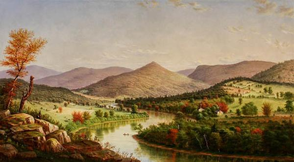 Views of the Allegheny Near Pittsburgh by William Coventry Wall (Am.  1810-1886)