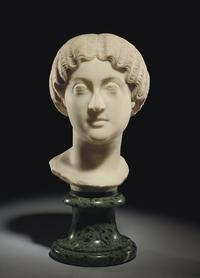 A Roman Marble Portrait Head of the Empress Faustina Minor circa 162 – 176 A.D.