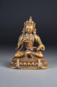 18th Century Qianlong Period Gilt Bronze Amitayus ($12,000-15,000)