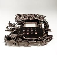 Telephone in elaborately carved Zitan base