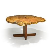 657: Mira Nakashima, Exceptional Minguren I Dining Table, 2000, $18,000 – 24,000