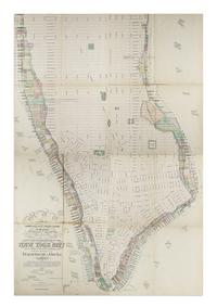 Lot 280: Map of Manhattan issued by the Department of Docks, compiled by chief engineer Charles K.  Graham, 1873.  Estimate $5,000 to $7,500.