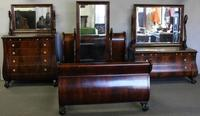 Exceptional Empire Flame Mahogany Four Piece Bedroom Set.