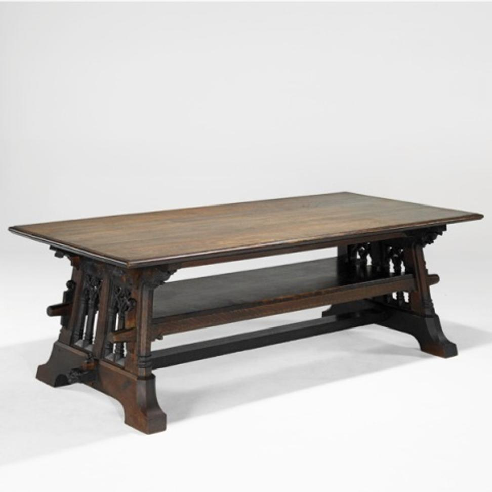 William Price, Rose Valley Trestle Table, Sold For $237,500