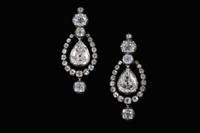 A Rare Pair of Georgian-Era 21 Carat Diamond Earrings, offered in the March 23-24 Auction at Brunk Auctions