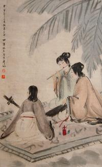 """Three Musicians"" by Fu Baishi"
