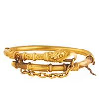 Lot 350: Victorian yellow gold eagle bracelet, $800-1,200