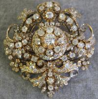 Over 238 diamonds in this spectacular brooch.