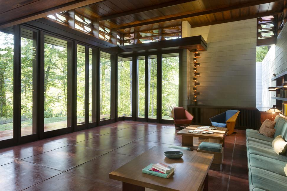 Sneak peek inside the frank lloyd wright house at crystal bridges artwire press release from Frank lloyd wright the rooms interiors and decorative arts