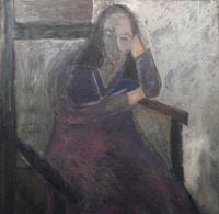 Gandy Brodie, The Penetration of A Thought, 1958, oil on canvas, 47.5 x 47.5 inches