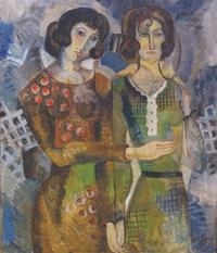 Marguerite Zorach, Two Sisters-Marguerite and Her Sister Edith (1921).
