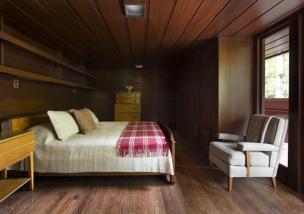 Master Bedroom, Frank Lloyd Wright House, Crystal Bridges Museum Of  American Art.