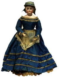 An extensive collection of 19th century European dolls in different compositions will be offered as will several mid-20th century dollhouses.