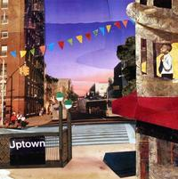 Bryam Collier, Uptown, 2004, collage and mixed media, 17 ½ x 17 3/8 inches, courtesy Arthur Primas Collection