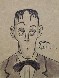 Anyone looking to decorate for Halloween might want to consider Lurch (shown) or Morticia, both drawings attributed to The Addams Family's Charles Addams (each est.  $3,000-$4,000).