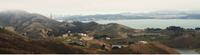 Aerial view of Headlands Center for the Arts, within the Marin Headlands just north of San Francisco.  Photo by David Elliott.
