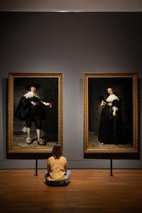 "Installation view of ""All the Rembrandts"" at Rijksmuseum."