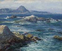 Guy Rose, Off Mission Point (Point Lobos), n.d.  Oil on canvas, 24 x 29 inches.  Crocker Art Museum, long-term loan and promised gift of The Rose Art Foundation.