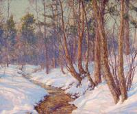 WALTER LAUNT PALMER (American, 1854-1932).  Upland Stream, Mohawk Valley, 1910.  Oil on canvas.  25-1/2 x 30 inches