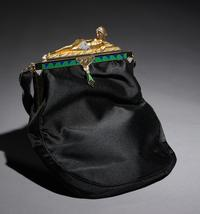 Purse, c.  1920�30.  Van Cleef & Arpels (French, Paris, est.  1896).  Gold, enamel, diamonds, sapphires, silk, cotton; 21.2 x 16 x 2.5 cm.  The Cleveland Museum of Art, Gift of Mr.  and Mrs.  Lee Lyon, 2009.378.