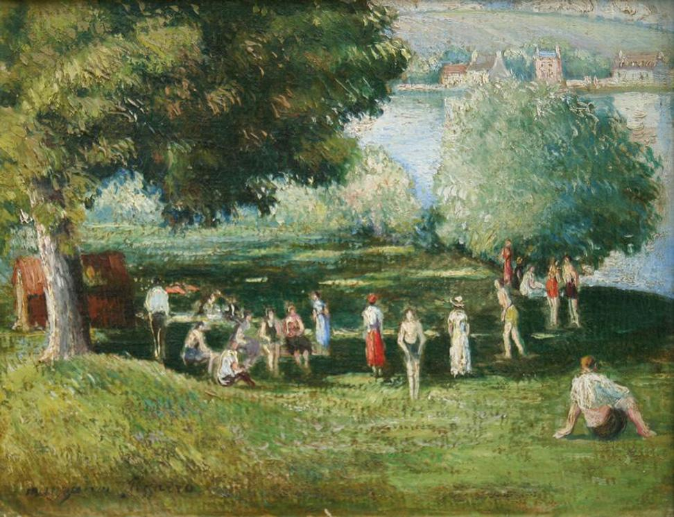 """Baigneuses a Les Andelys"" from the Pissarro Collection"