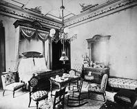 Pictured here in 1900 is the bedroom suite created by Pottier & Stymus as it appeared inside Linden Towers.