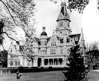 This historic photo, taken in 1900, captures the elaborate magnificence of James C.  Flood's Menlo Park estate he named Linden Towers.